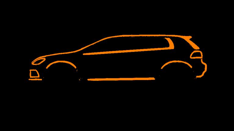 VW Golf GTI GTD Silhouette